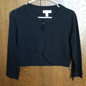 Dress Barn Sweaters - Black Dressbarn Crop Cardigan
